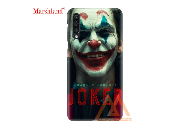 MARSHLAND Latest Back Case Cover Joker Character Printed Pattern Design Anti Scratch Hard Back Cover Compatible for Samsung Galaxy A50