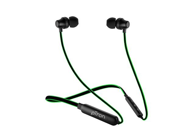 PTron Tangent Lite Wireless Headphones- best earphones under 100, 200, 500, 600 Buy now from Amazon