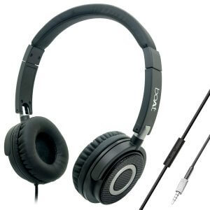 5) boAt Bassheads 900 On-Ear Wired Headphones - Best over ear headphones under 1000, 1500, 2000, 3000 & 5000 in India through Amazon